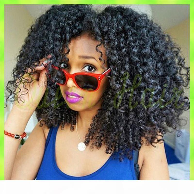 Livraison gratuite 7a perruques de lacet bouclés, malaisiennes perruques de cheveux sans colle plein humain dentelle bouclés pour les femmes noires perruque cheveux bouclés humain
