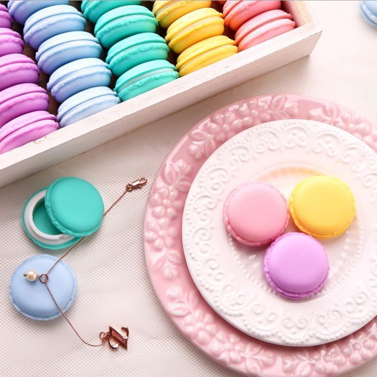 Портативный Candy Цвет Мини Macarons ящик для хранения прекрасный подарок ювелирных изделий Пакет Pill Чехол для гарнитуры Box защиты