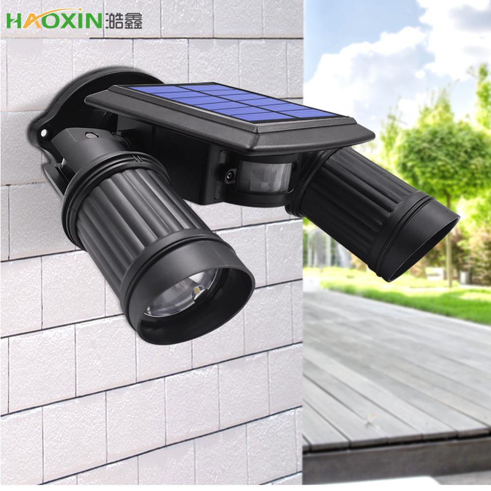Haoxin Super Bright 14 LED impermeabile del sensore di movimento Pir luce alimentata solare, luci solari Led Giardino Sicurezza della lampada luce di via esterna
