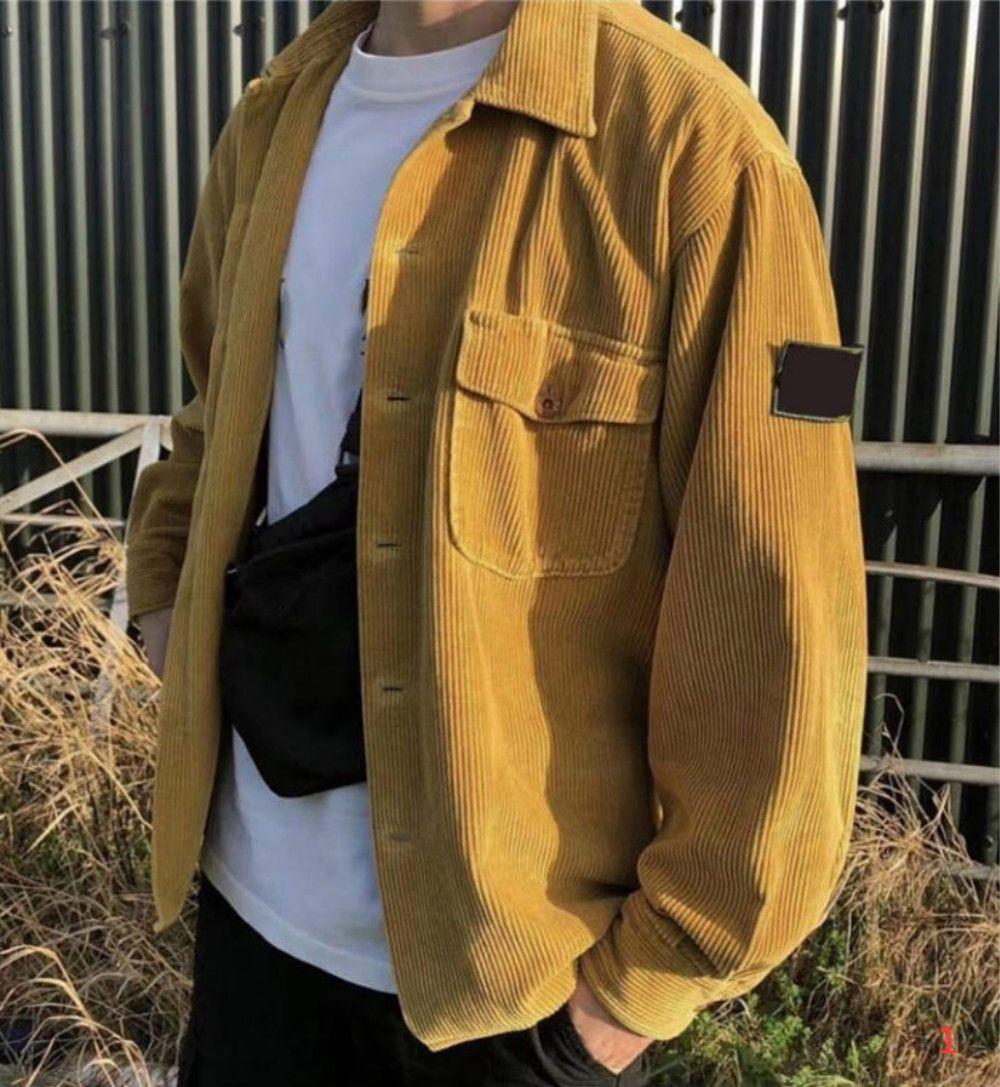 Giacca Retro Lunga bussola nelle Giacca 20FW uomo per i vestiti di Uomini Donne Felpa stile casuale Distintivo maniche donne asiatiche Taglia M-XL