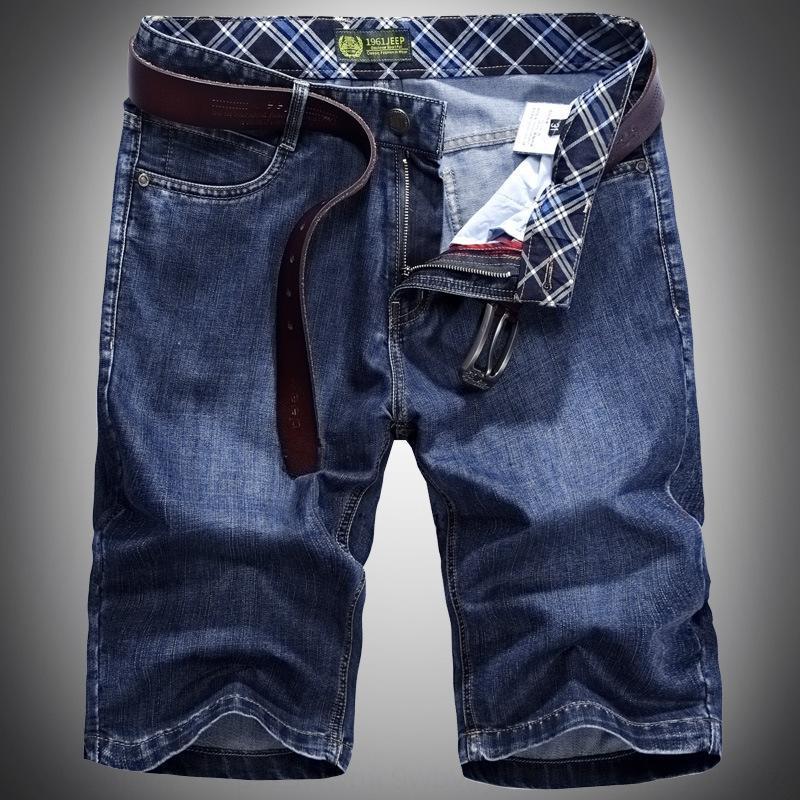 New Denim shorts shorts casual men's casual loose large size summer thin men's pants denim cropped pants 5XZQv