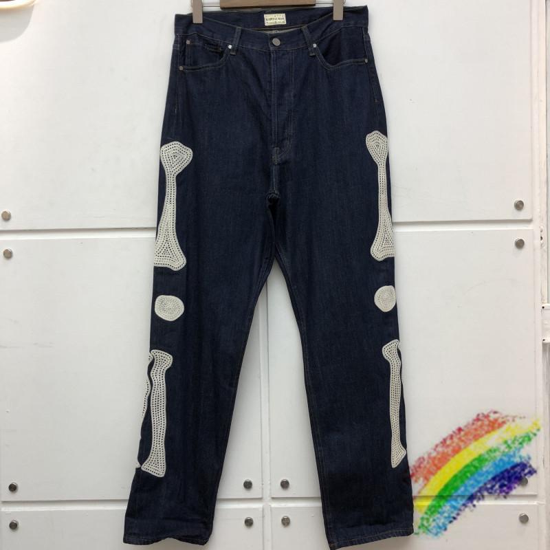 Новые прибыльные джинсы для вышивки мужчины Женщины высокого качества Джинсовые штаны груз