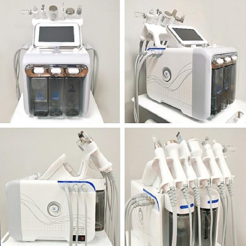 6 in 1 Hydra Yüz Makinesi RF Cilt Rejuvenaiton Mikrodermabrazyon Hidro Dermabrazyon Bio-Kaldırma Kırışıklık Temizleme Hidrakasiyal Spa Stokta
