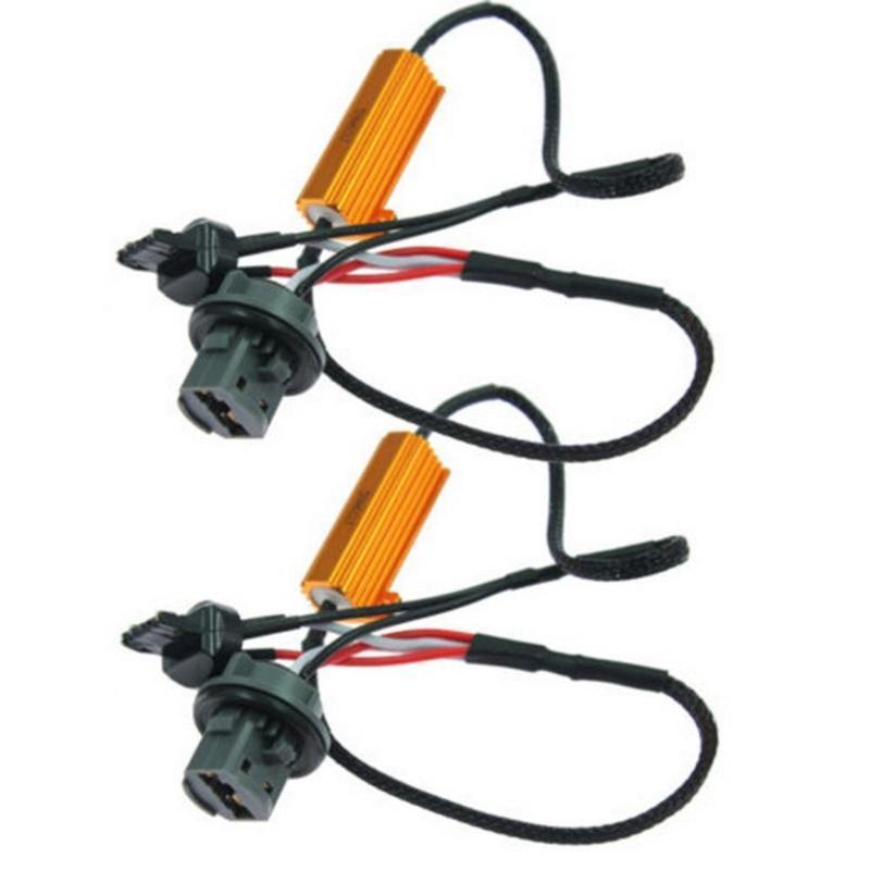 Automotive 7443 solo LED Resistencia decodificación Línea 7440LED la señal de vuelta de fallos Eliminator LED luz de freno Decoder
