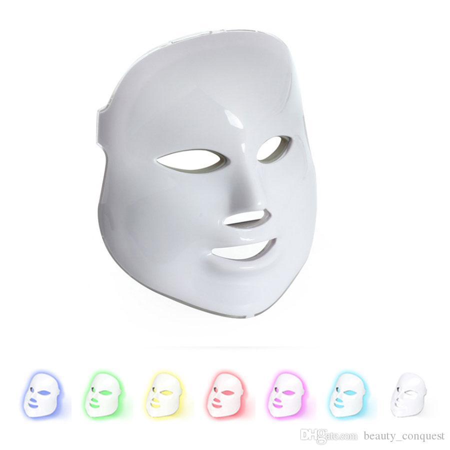 Kore Foton Terapi Yüz Maskesi Güzellik Makinesi Elektrikli LED Yüz Maskesi LED Maske Işık Terapi Güzellik Cilt Bakımı 7 Renkler