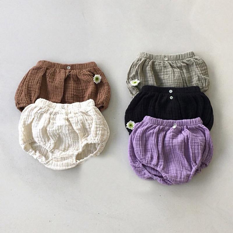 INS bébé coréen enfants filles Shorts d'été Automne Shorts Lin Coton Grande Boutons avant la qualité du nouveau-né pour enfants Hot Jeans Pantalon Bloomers pour 0-2T