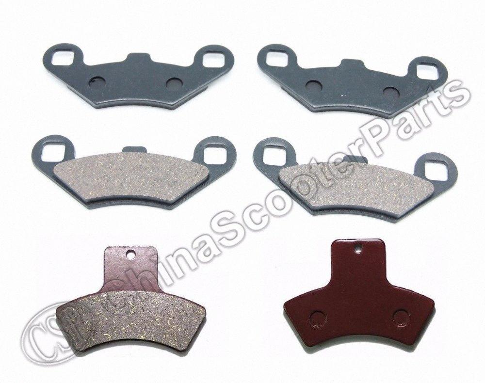 3 pares Semi-metallic sem amianto da frente traseiros Pastilhas de freio Polaris Sportsman 500 HO 4x4 1998 1999 2000 2001 2002 waIC #