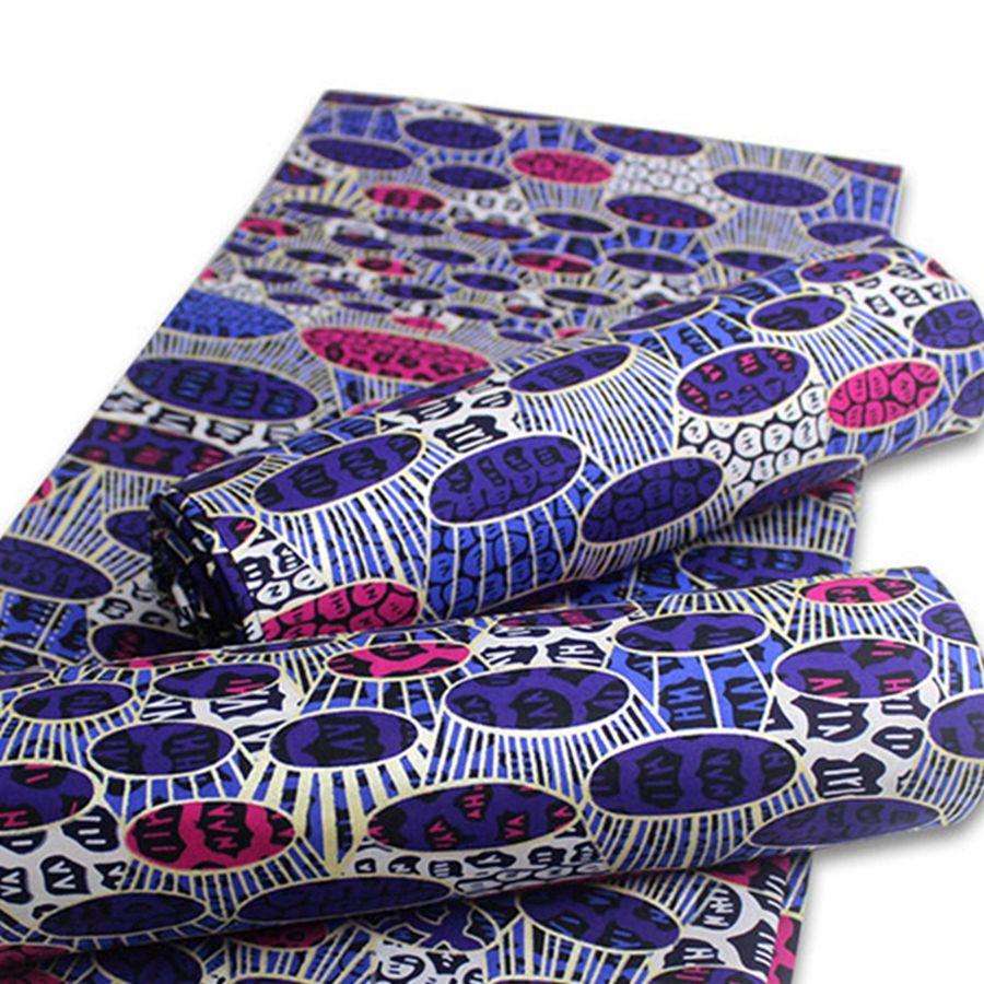 Cire africaine Imprimer Tissu Tissu africain d'or la meilleure qualité du coton batik nigérien Ankara Tissus pour femmes robe