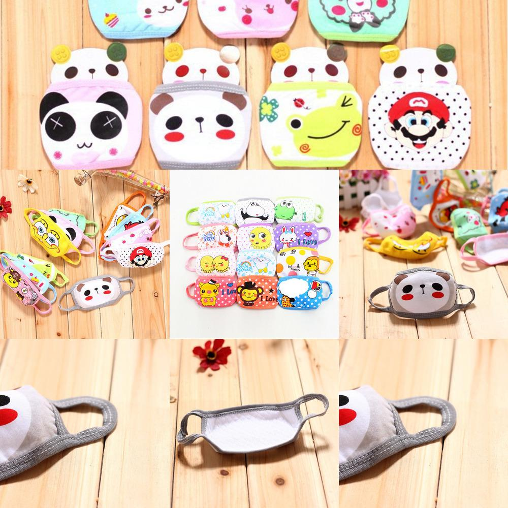 Cubrebocas Kinder Tapabocas Tuch Gesicht Niedlich Masken für Kinder Baby-Karikatur Warm aus reiner Baumwolle Doppelstaubmaske Fyvrb