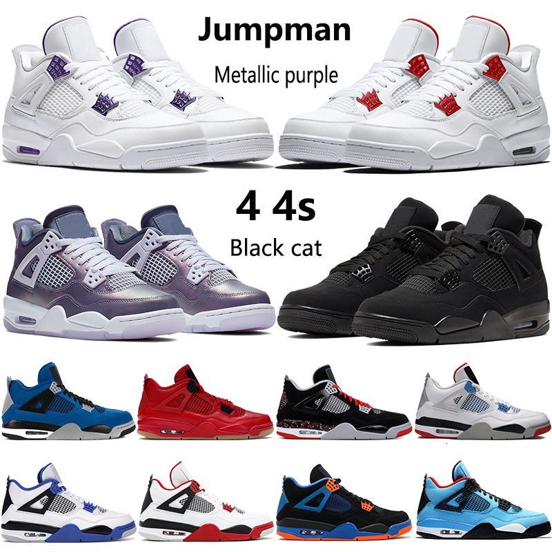 2020 nuovi 4 4s allevati Jumpman verde rosso scarpe da basket OVO Splatter metallico viola mens all'aperto gatto nero delle scarpe da tennis degli Stati Uniti 7-13