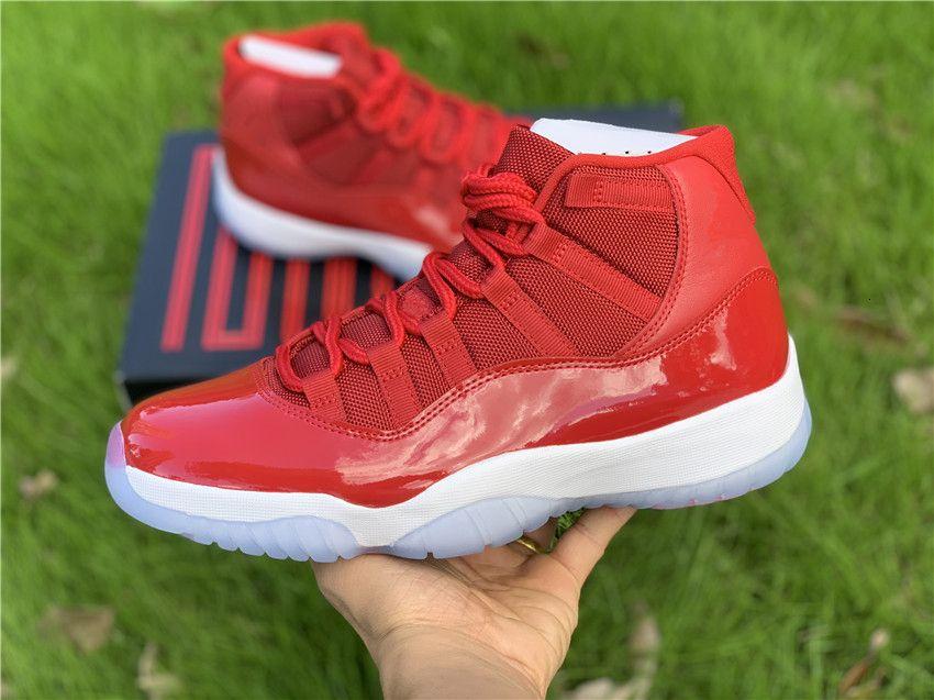 Kırmızı Xi Kutu Yüksek Yeni Basketbol Ayakkabı Açık Eğitmenler Üst Kalite Ücretsiz Kargo Boyutu 7-13 erkekler Gym Toptan 11'ler