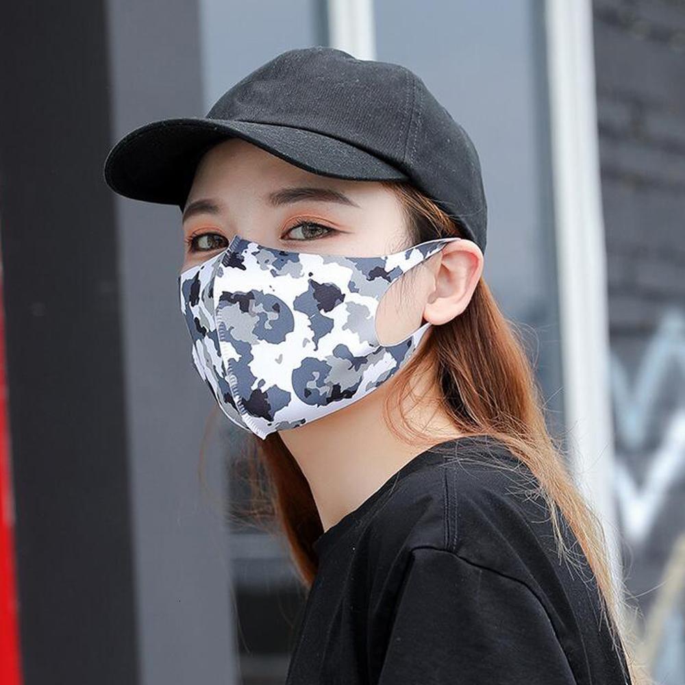 Lavabile antipolvere Designer Maschera copertura Bocca antipolvere antibatterico riutilizzabile ghiaccio seta cotone maschere per adulti