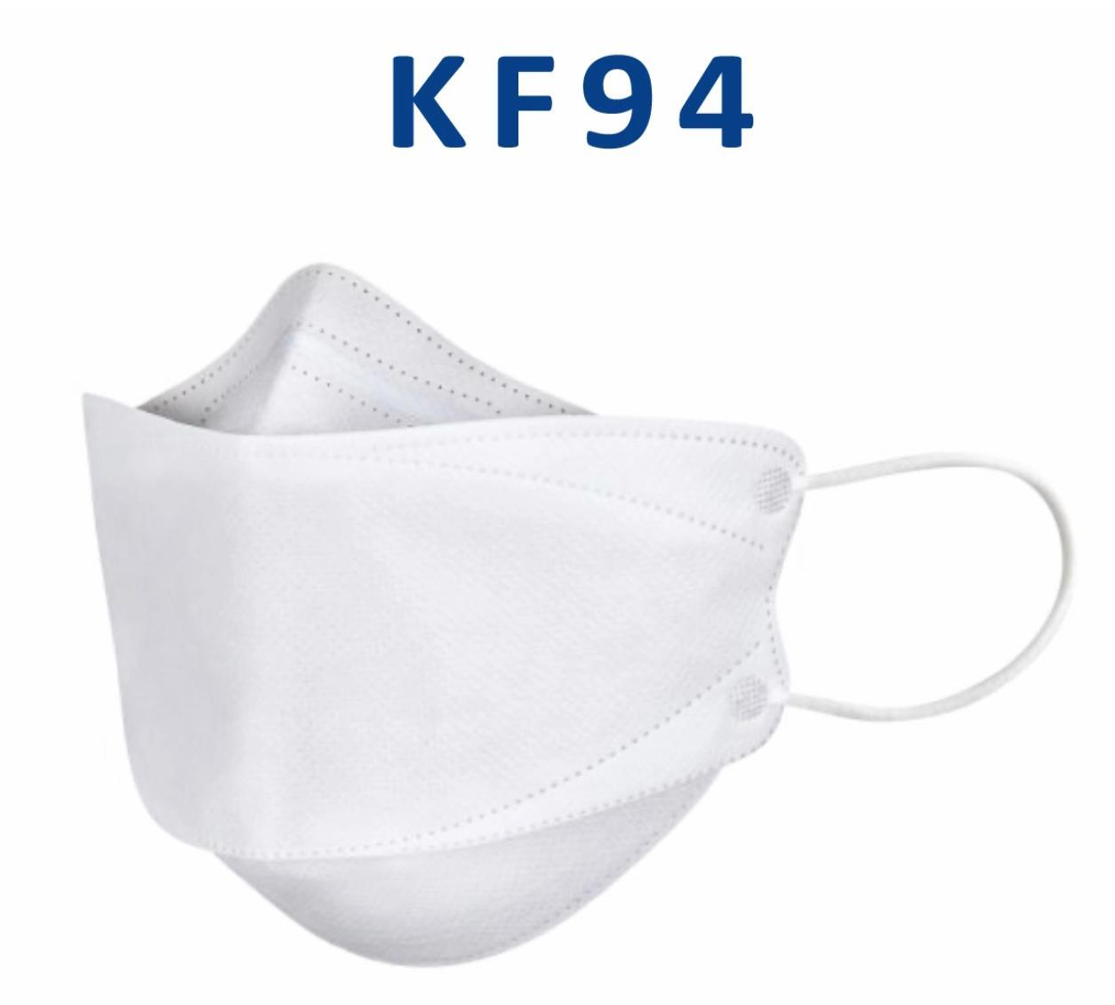 Em estoque! Versão Coreana da máscara KF94 para a prova de poeira adulta e respirável Proteção KN95 Face Masks Embalagem independente em forma de salgueiro