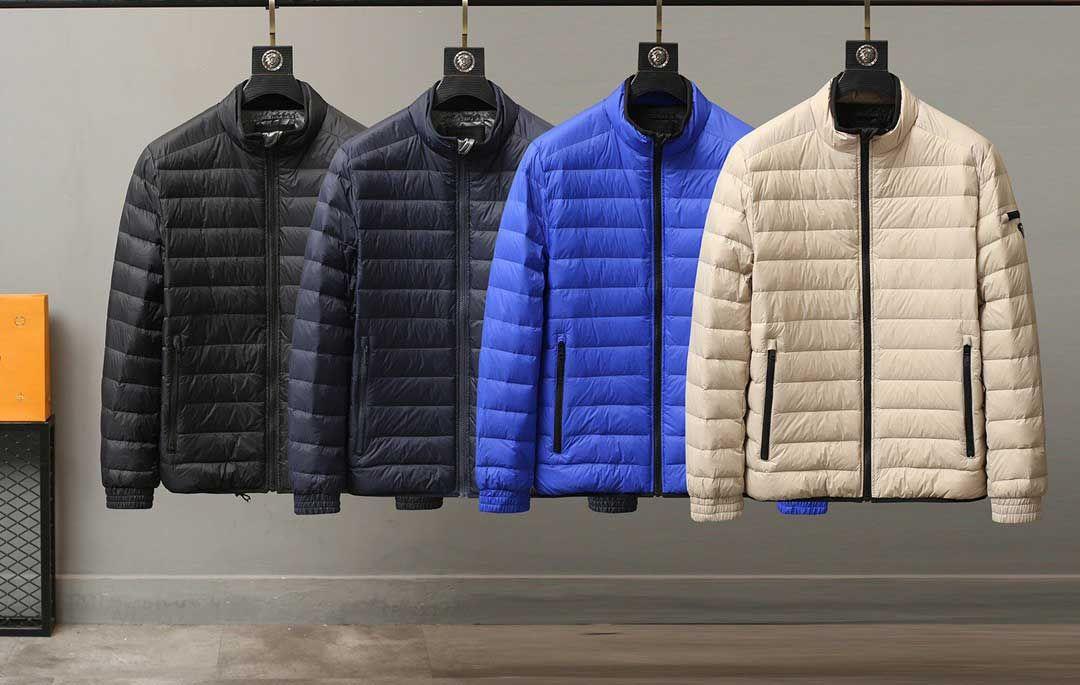 Fahison Мужская одежда 2020 Новая осень зима Outwear куртка вышивки Конструкторы печати вниз пальто верхнего качества ветровки 4 цвета Размер: M-3XL