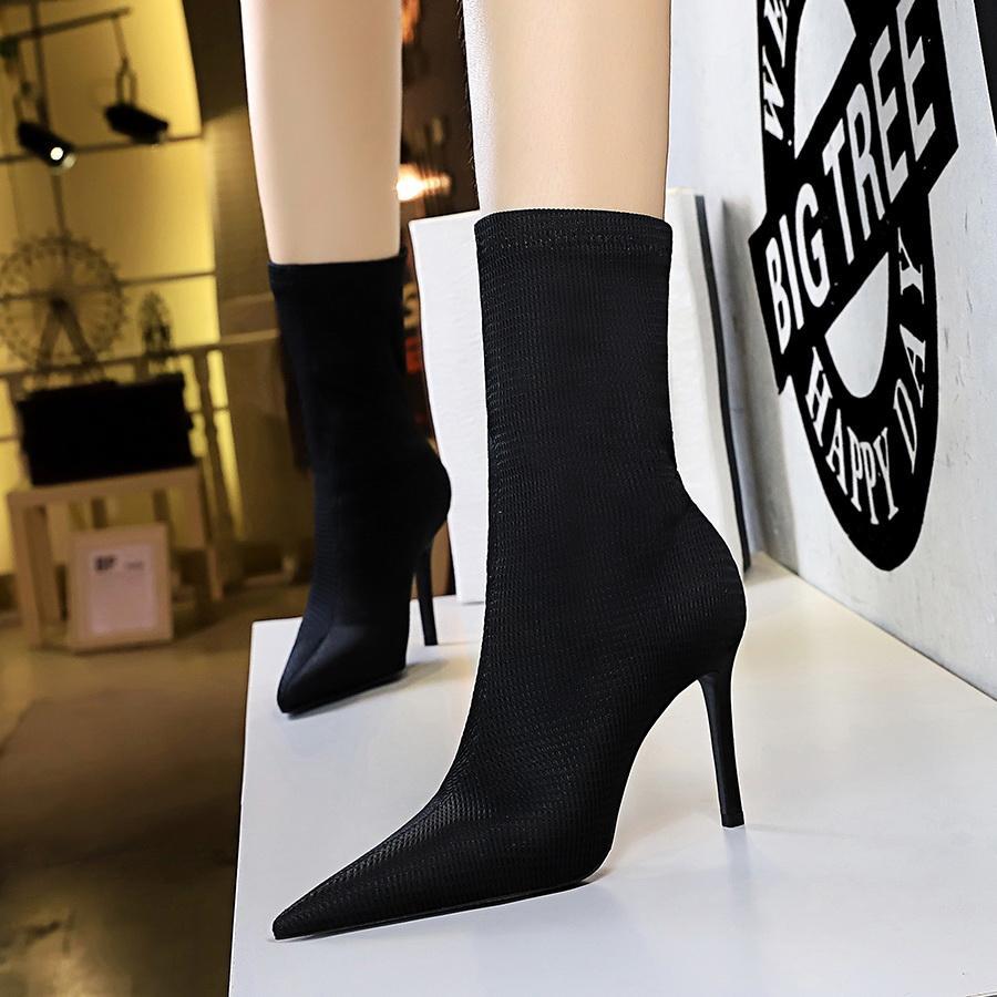 Sahte Süet Kadınlar Üzeri Cizme Lace Up Seksi Yüksek Topuklar Ayakkabı Kadın Kadın High Boots Botaş 34-40 Kadınlar Yüksek Önyükleme