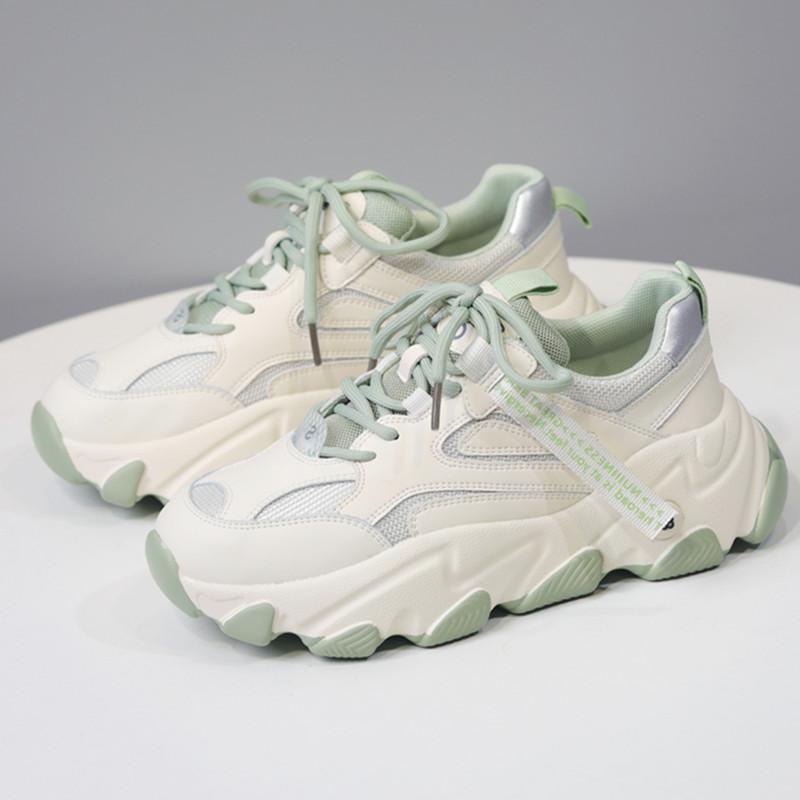 Натуральная кожа Женщины Узелок Кроссовки толстым дном Повседневная обувь для женщин Круглый Toe Brand Разработанный нескользящей обуви для девочек Flats