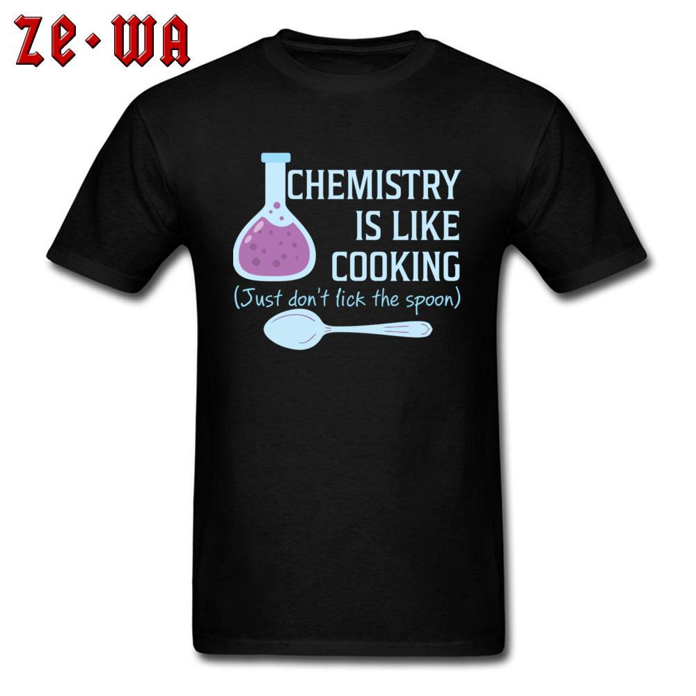 100% хлопок Футболка мужская Geek химии Как Cooking Смешные T Рубашка с коротким рукавом Топы Тис 2019 Новая мода Письмо Tshirt