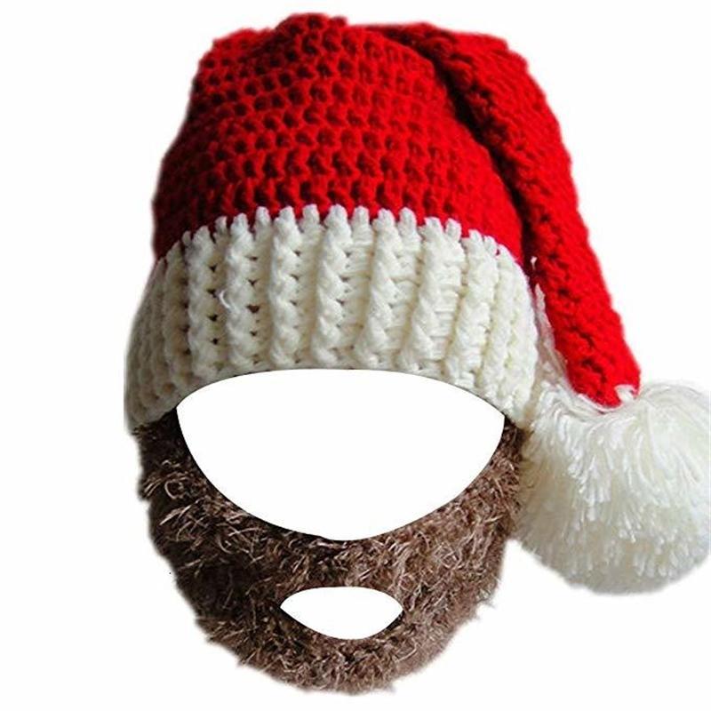 Buffo cappello Artigianato di Natale Babbo Natale con grande barba