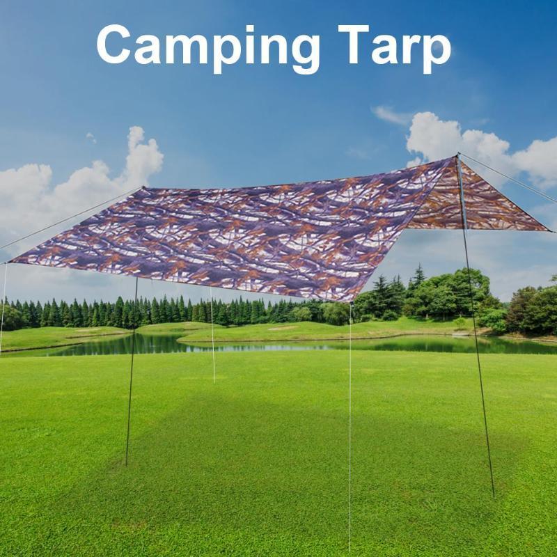 Kabin Tente 10 x 10 ft su geçirmez Hammock Yağmur Tente Tente Açık Barınak, UV dayanıklı Kamuflaj yırtılmaz piknik Mat