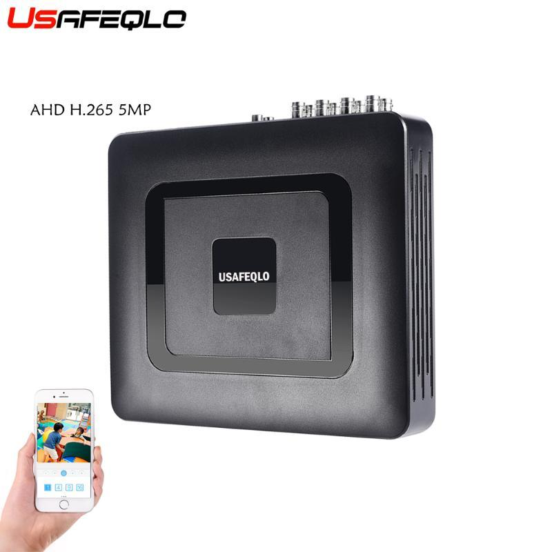 USAFEQLO Hybrid 4CH 8CH H.265 AHD5MP AHD DVR 6 IN 1 XVI AHD CVI TVI CVBS Security DVR NVR For AHD-G Camera 5MP IP Camera