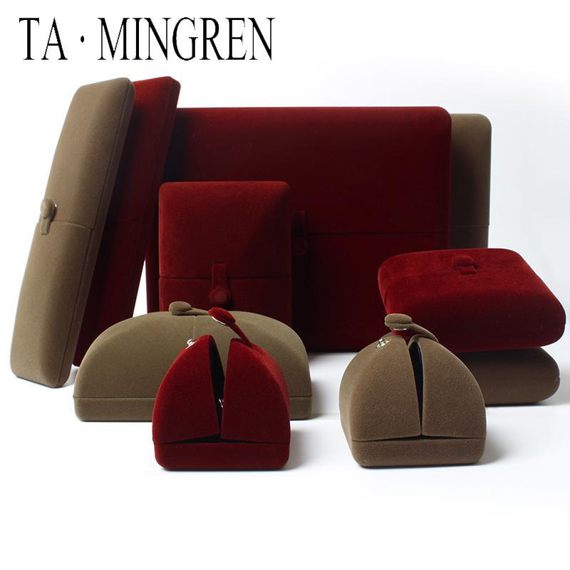 Box collana di lusso TA Mingren Nuovo prodotto Wedding velluto Inserire anello Jewelry Box Customer Case