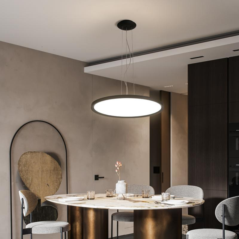 Cgjxs Ultra--Thin Moderne LED-Pendelleuchten für Esszimmer Shop-Bar Projekt Wohnzimmer Pendelleuchte 110v 220v hängende Lichter Fixtures