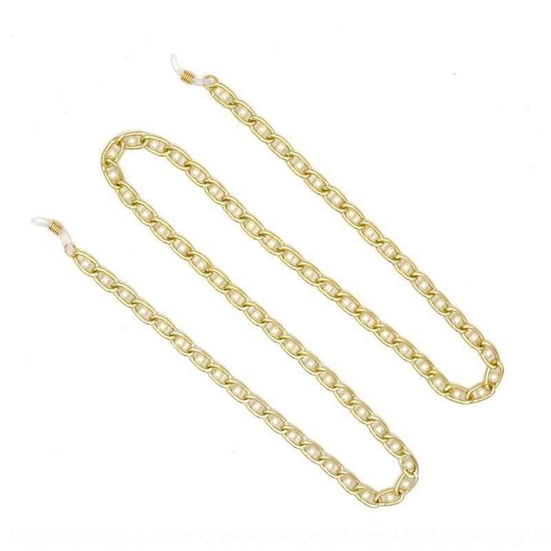 m5WXX ювелирных изделий способа простой алюминиевой цепи жемчужина цепи ВС ВС аксессуар очки аксессуары висит шеи очки канатные
