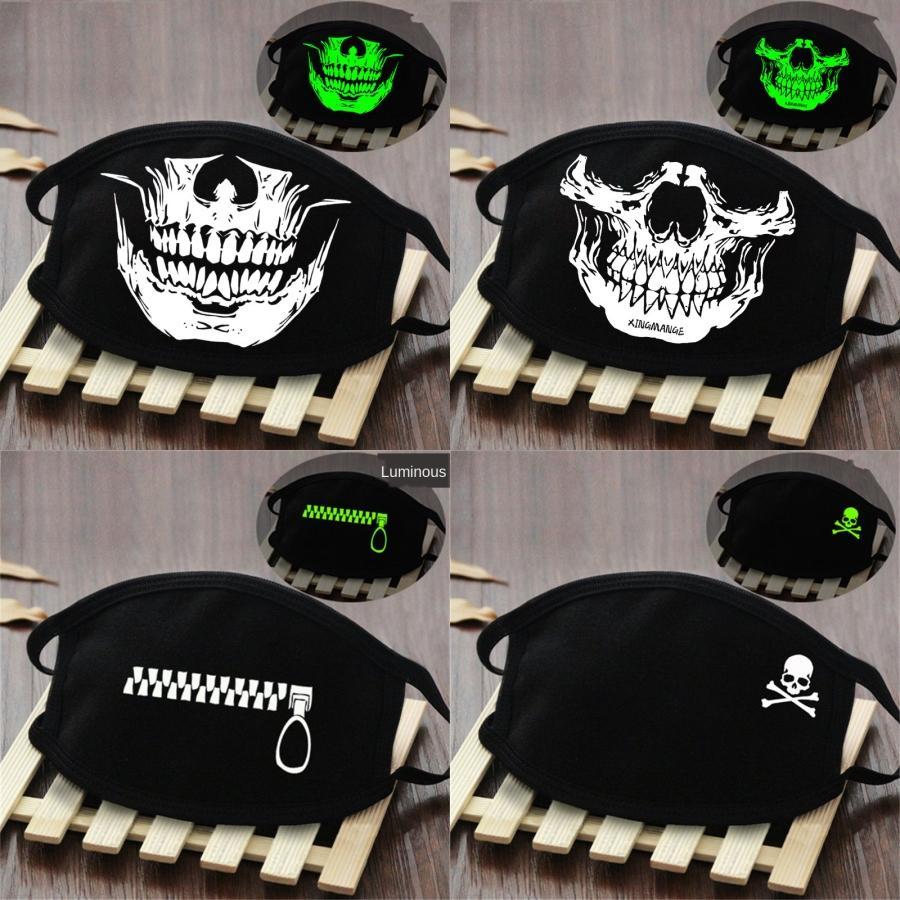 Prective Ice soie Masque Mascherine camouflage Fraise Imprimer Anti poussières respirables bouche Designer Masques # 902
