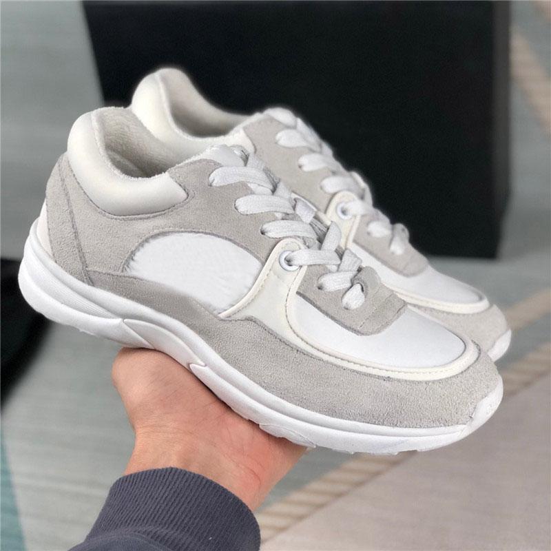 2021 Nouveau hiver Casual Chaussures Calfskin Suisse Sneakers Hommes Femmes Augmentez les chaussures de plate-forme Vintage en daim Sneaker Baskets Baskets avec boîte