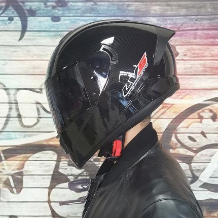 ZQv8F LVS casco moto veicolo elettrico maschile sovrapposto veicolo elettrico quattro stagioni pieno casco integrale sovrapposto Cavaliere doppia