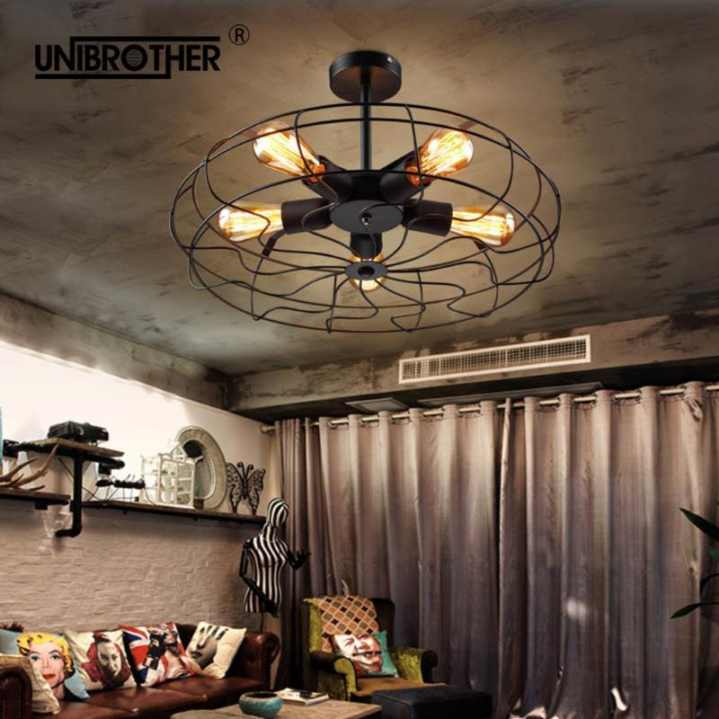 Ventilateurs électriques 52cm Ventilateur de plafond rétro Retro Télécommande Lumière Invisible Rétractable Pays American Pays Pliante Chambre Salon Salon Chambre à coucher