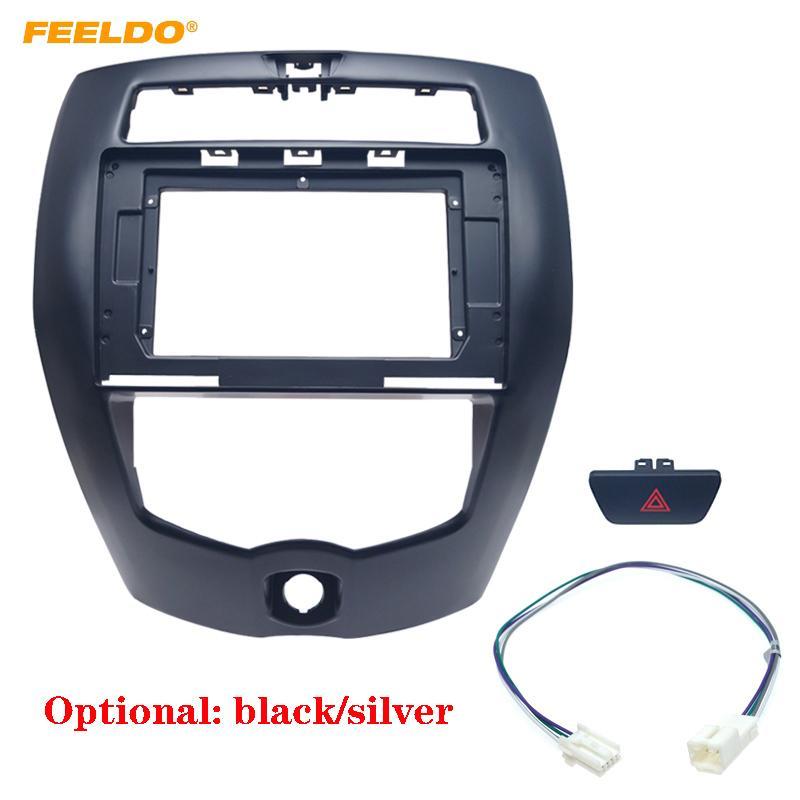Estéreo FEELDO coche 10.1 pulgadas de pantalla grande marco embellecedor adaptador para Nissan Livina 2Din Dash audio Fitting Kit de panel Marco # 6369