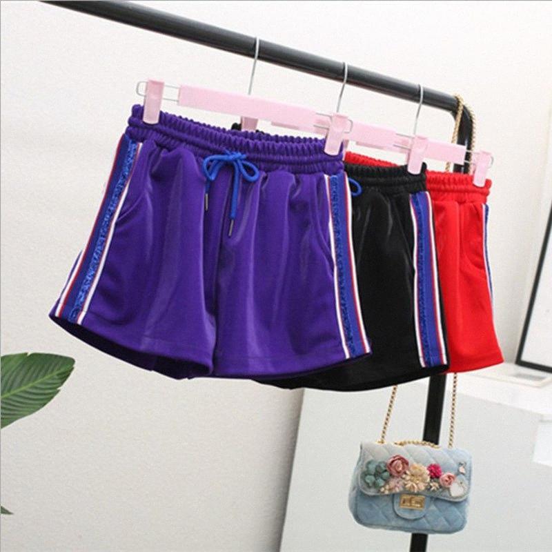 Frauen-Sommer-Street Causual Shorts Sport Hosen mit hoher Taille Lady Freizeit und bequeme heiße Hose Girls' Tägliche Garments gWp4 #