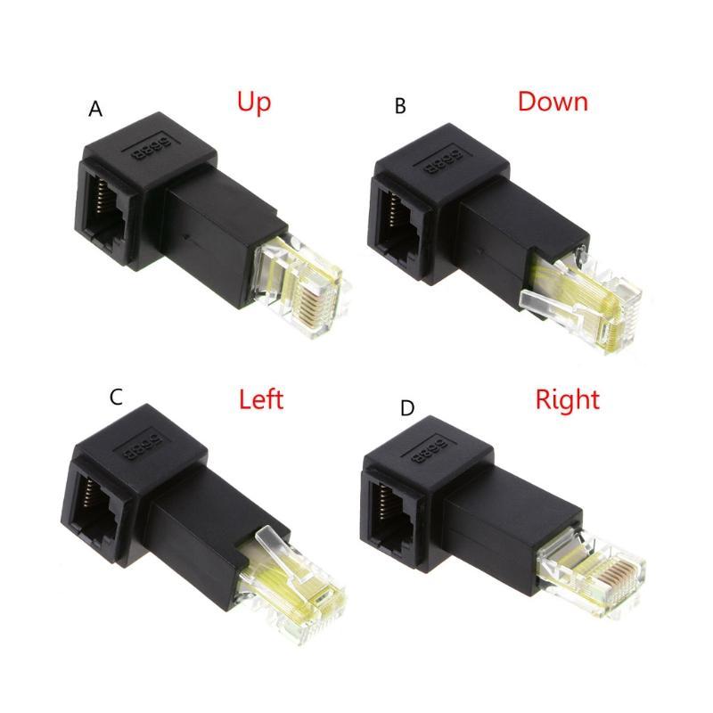 Многоракурсность RJ45 Cat 5e Мужской Сетевой адаптер Extension Женский Lan Ethernet