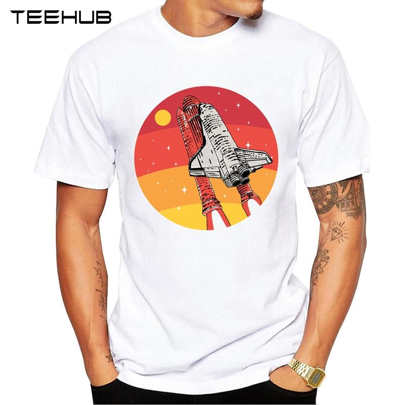 TEEHUB Männer neue Art und Weise Mission Of Fire Gestaltung Kurzarm T-Shirt Coole Printed Tops Hipster T Shirts