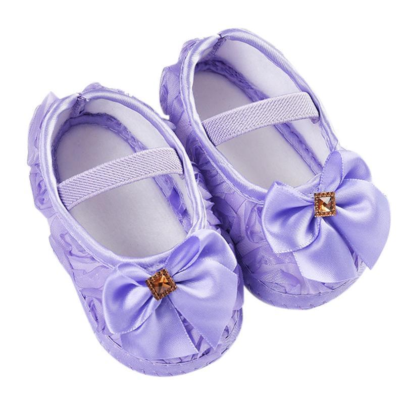 2020 Bebek Çocuk Kız Bebek Gül ilmek Elastik Band Yenidoğan Yürüyüş Ayakkabı kızlar favorate hediye 5.28
