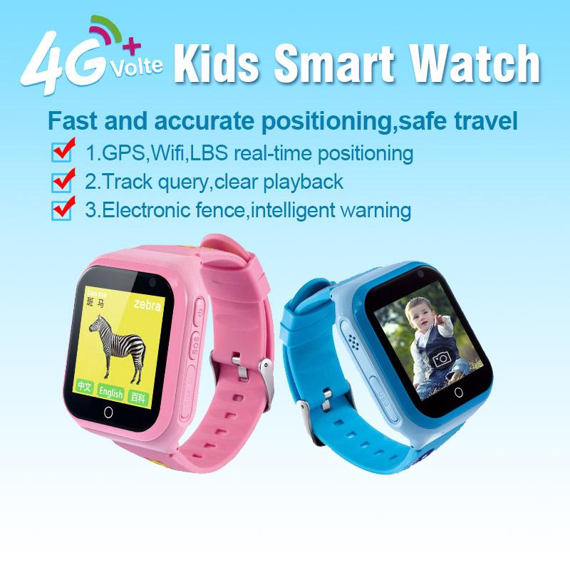 4G Network R1 Kids Smart Watch SIM Card Call Wifi GPS Position Clock ROM 4GB Photo Video Camera Smartwatch For Child Children Baby