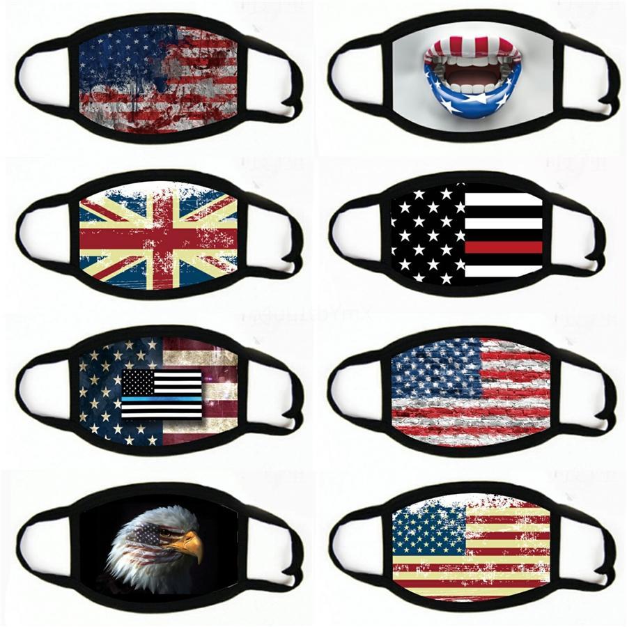 Máscara diseñador del polvo anti negros Vidas Materia I Cant aliento para las máscaras de la bandera de la historieta del algodón de ciclo WashableCloth # 616