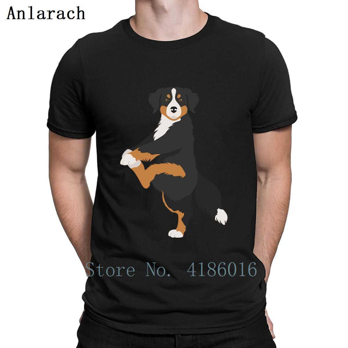 Bernese Dağ Köpeği Yoga Egzersiz Köpek Komik Tişörtlü Günlük Yaz Stili Yenilikçi O-Boyun Spor Tee Gömlek Baskı Benzersiz Gömlek