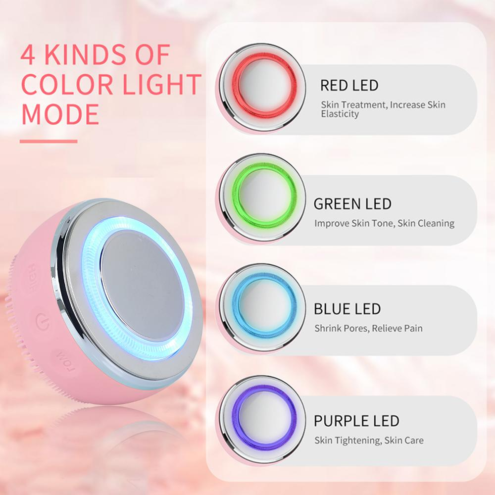 Silicone Face Cleansing Brush Electric Facial Cleanser Skin Deep Washing Massage Brush Face sonic vibration Face CleanserRabin