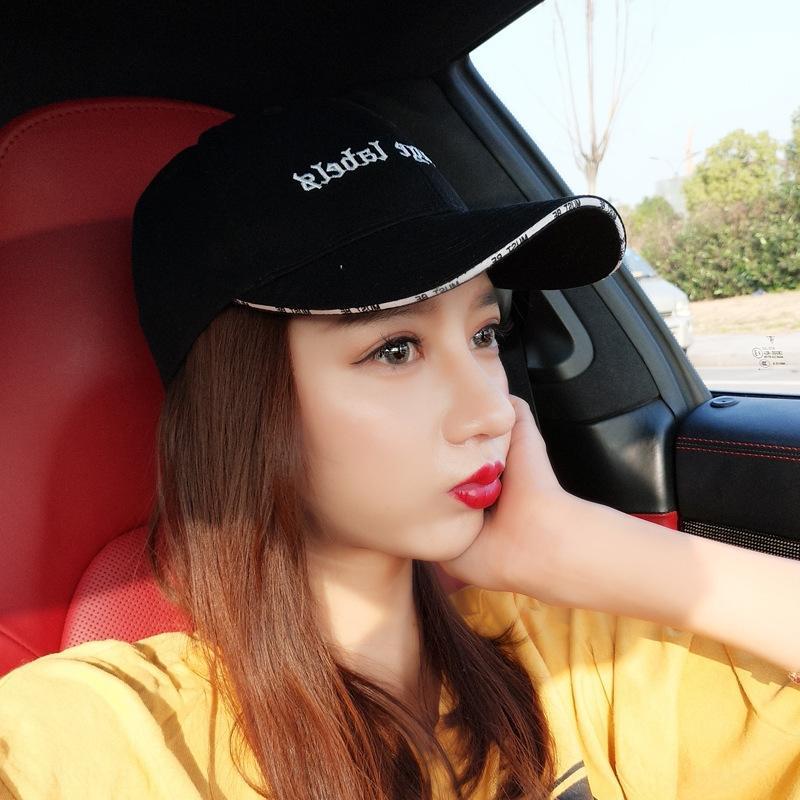 OcJnH Hut des Sommers der Frauen koreanischen Stil in Mode Student Art und Weise Allgleiches Paar Damen Freizeit Sonnenhut Spitz Baseball Baseballmütze Erbse