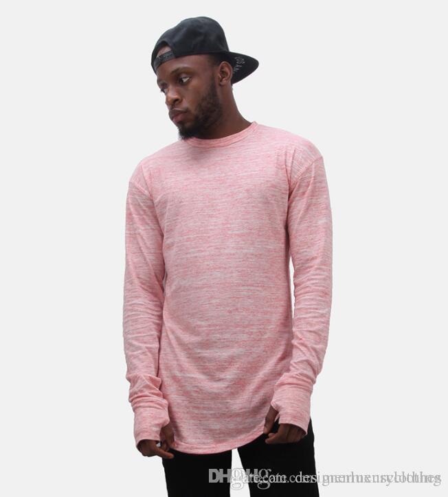 Rapper Rua Tops Espinhel Mens T shirts Designer Luvas Mangas longas design O-pescoço Bottoming Hiphop