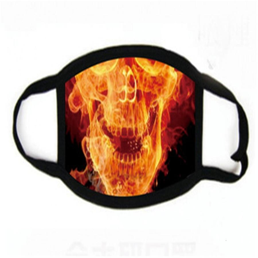 Den en la acción suave Comfortale Er máscara máscaras protectoras REACION fresco unisex verano Esponja Clot Fa impresión Máscaras # 430