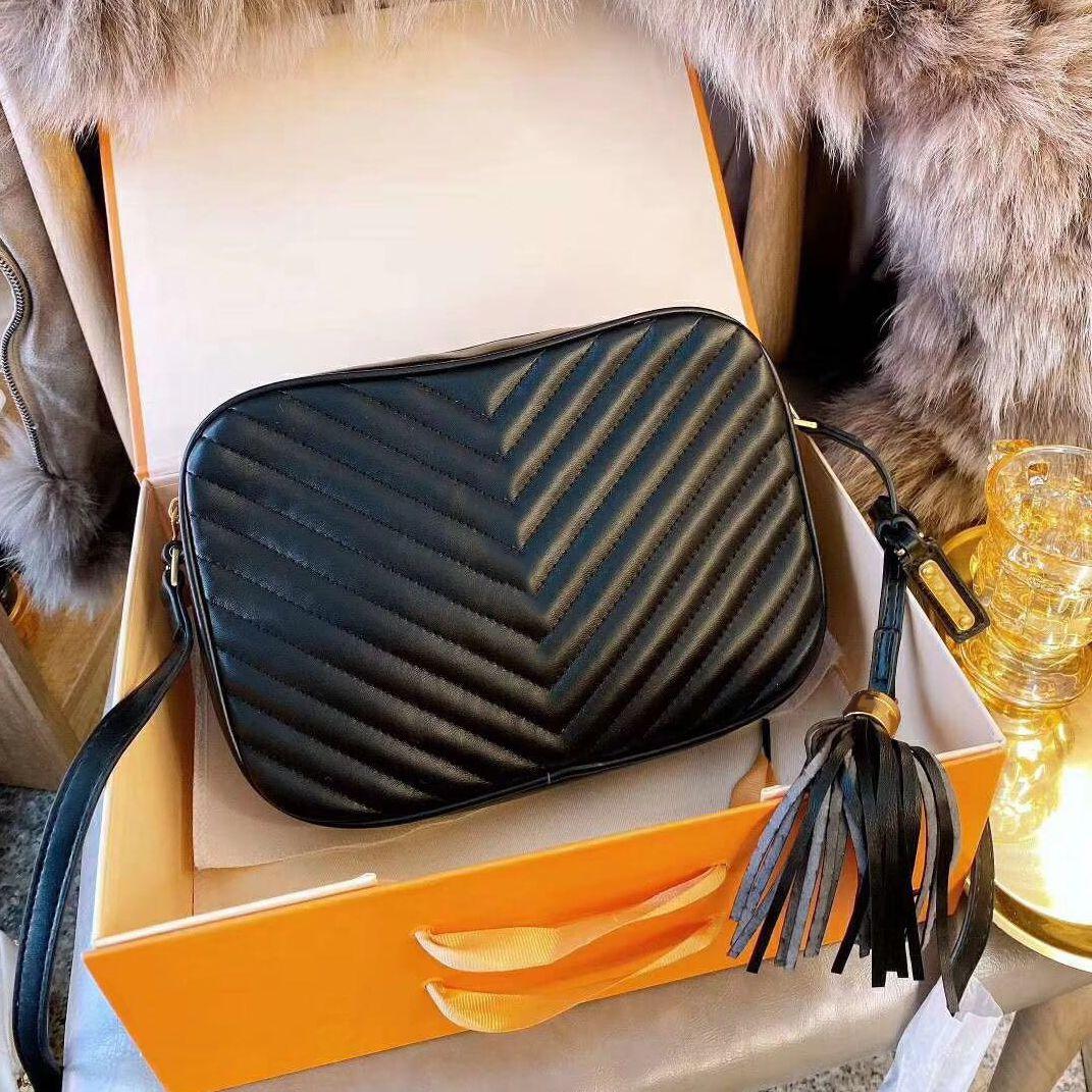 2021 Sıcak Satış Deri Moda Omuz Çantası Bayanlar Klasik Tahıl Kamera Çanta Trend Marka Messenger Çanta