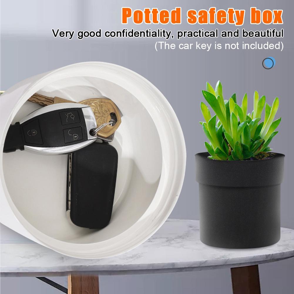 Безопасная безопасность с помощью клавиш Diversion Горшок суккуленты тайника Box