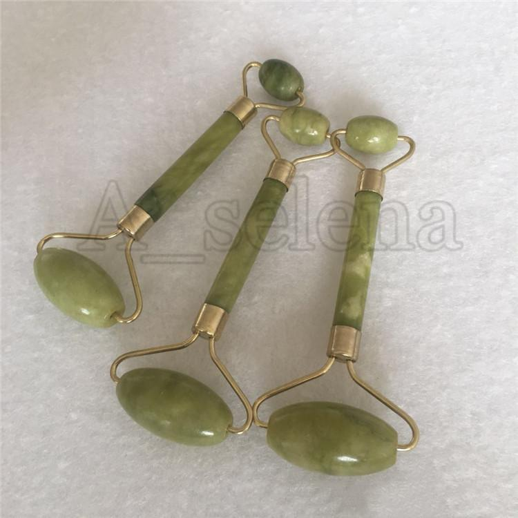 휴대용 pratical jade 얼굴 마사지 롤러 안티 링클 건강한 얼굴 바디 헤드 발 자연 아름다움 도구