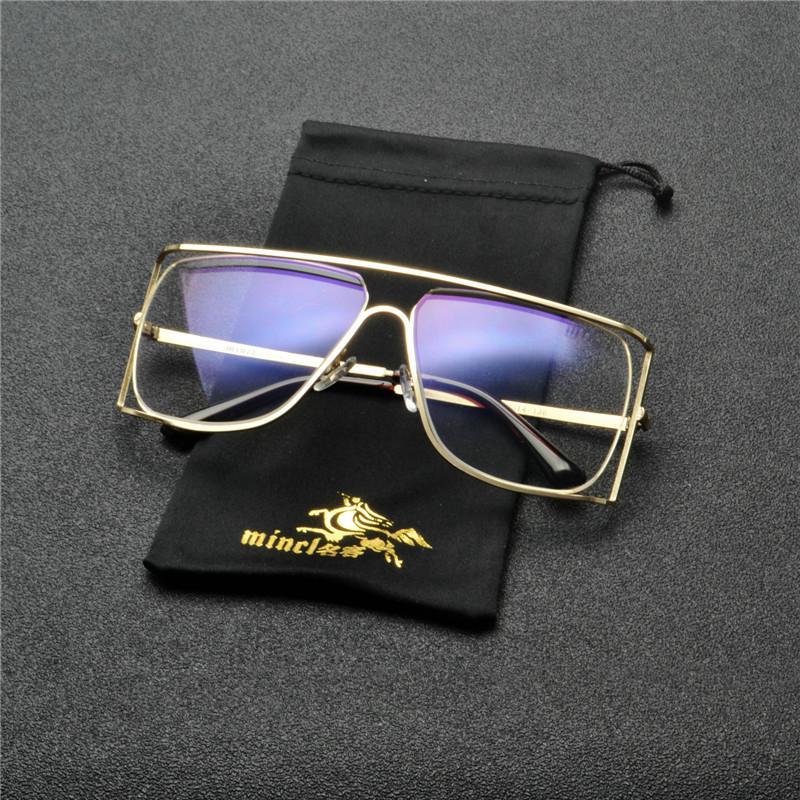 Oversize Punk Clear Men Donne Moda Specchio Silver Silver Piece Rettangolo Lens One Black 2020 Shades UV400 NX Occhiali da sole EUWVU