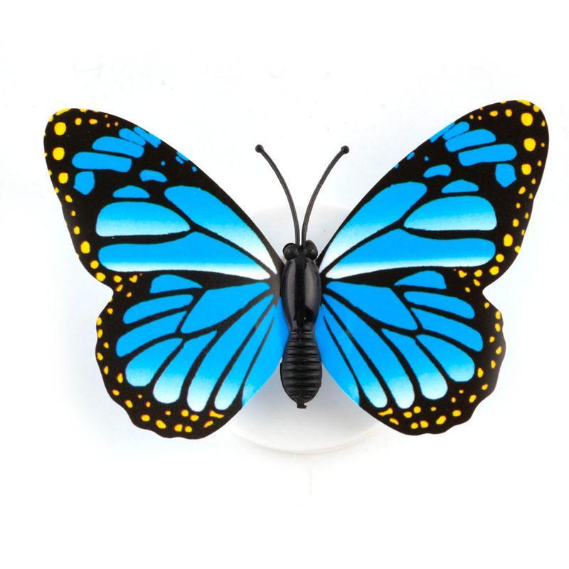 화려한 나비 LED 밤 빛 홈 파티 침실 웨딩 장식 조명 램프 벽 스티커 어린이 선물 무작위