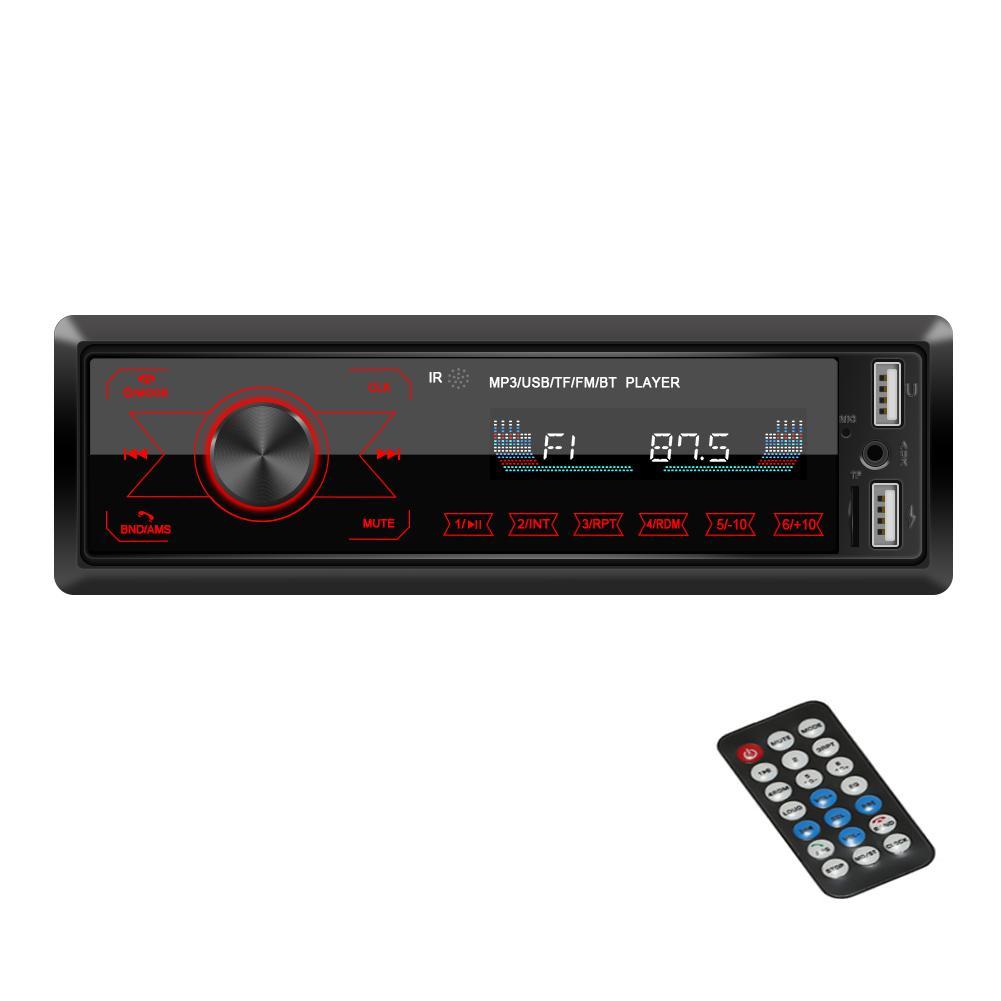 ستيريو بلوتوث سيارة سيارة الصوت راديو FM وسائل الإعلام الرقمية لاعب مع مفاتيح لمس كاملة، سيارة لاعب MP3 USB / SD / AUX الأيدي حر الدعوة مع Wireles