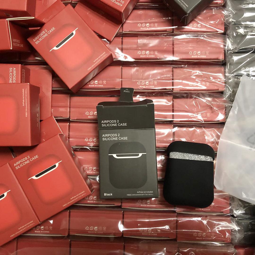 nouvelle Ecouteur Pour Apple AirPod 1 2 pro Couverture en silicone pour AirPod casque Earpods Oreillettes Boîte de charge anti-choc